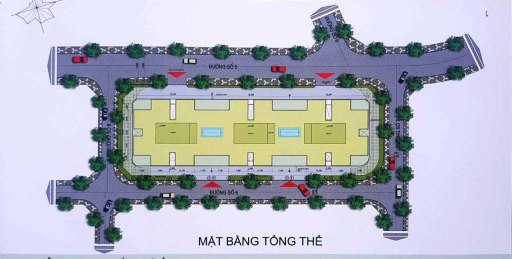 mặt bằng tổng thể Block Chung Cư Resco An Hội 3