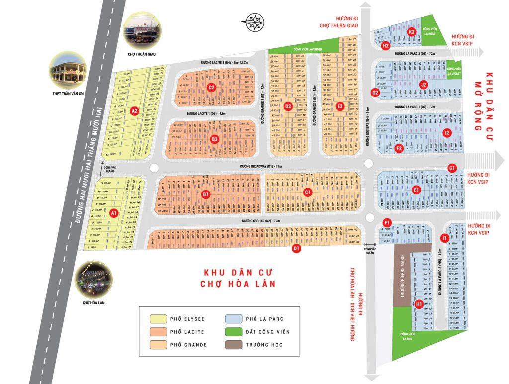 mặt bằng dự án Lộc phát Residence