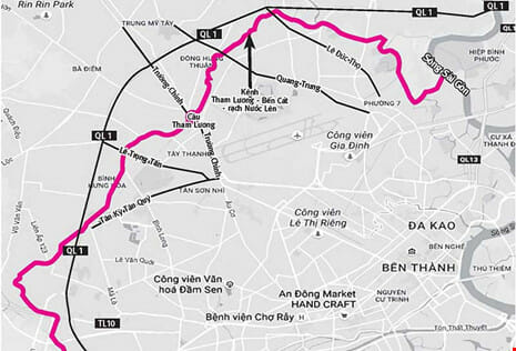 Quy hoạch kênh Tham Lương Bến Cát năm 2019