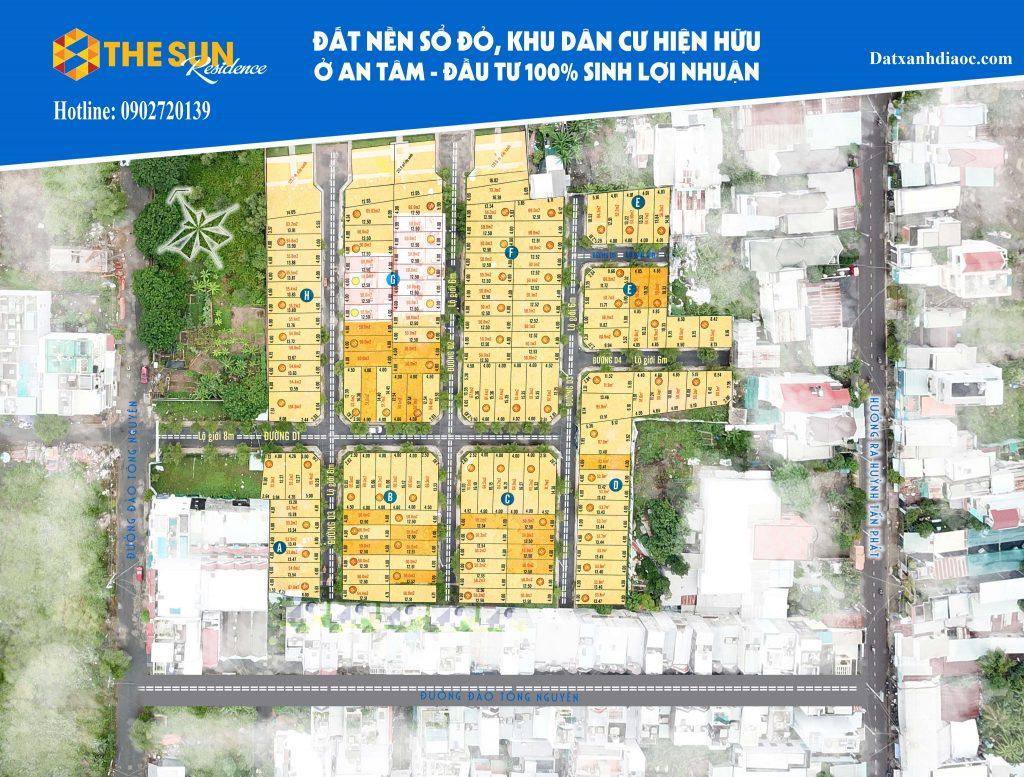 Mặt bằng thực tế dự án The Sun Residence Nhà Bè
