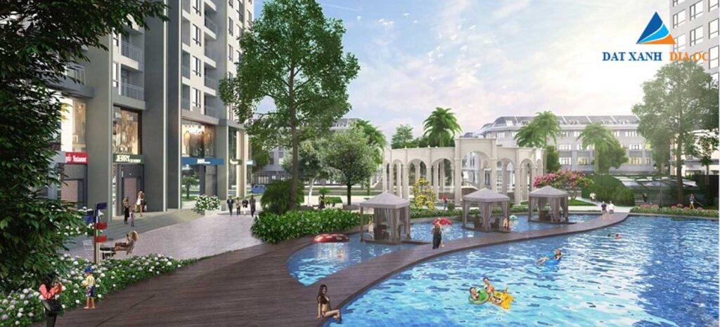 Tiện ích hồ bơi chung cư Cổ Linh Long Biên
